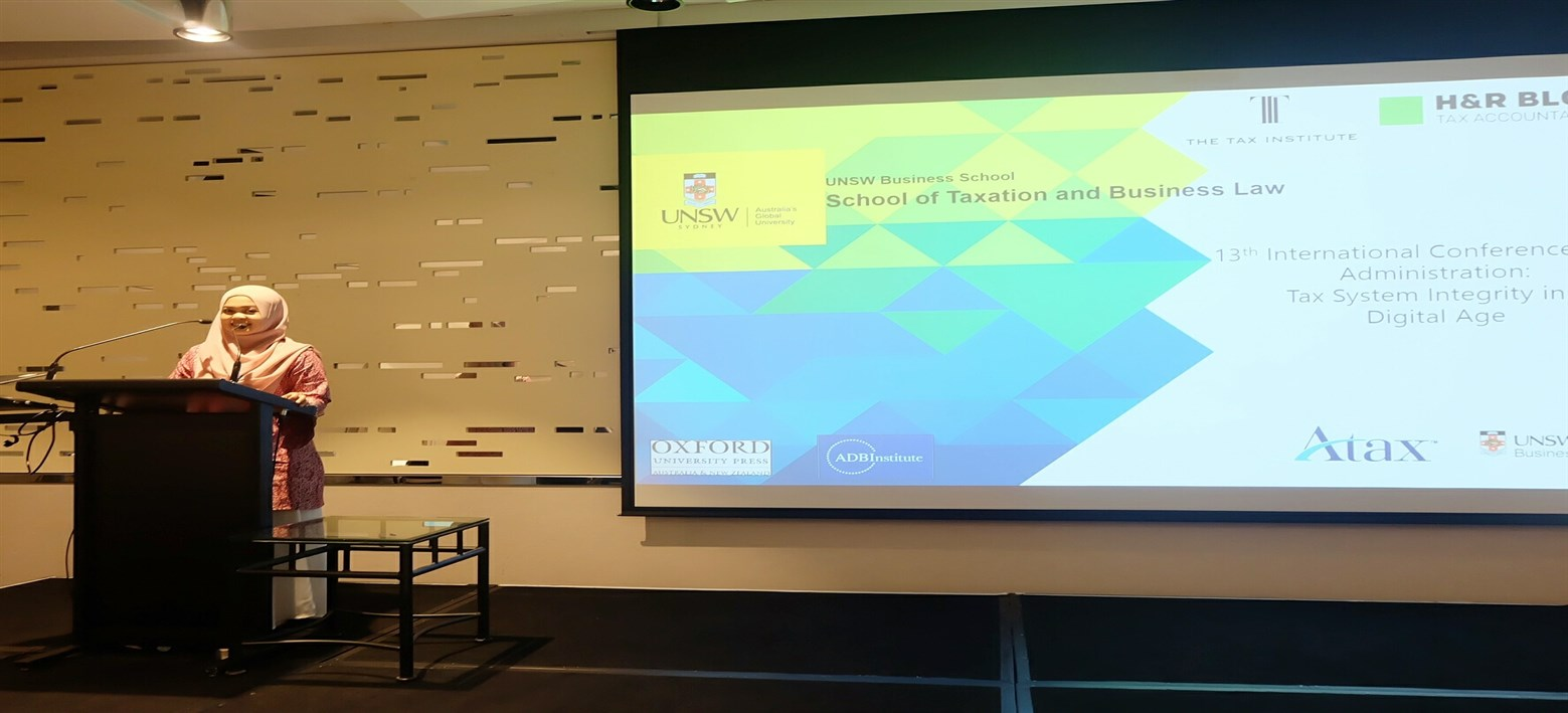 13th INTERNATIONAL CONFERENCE ADMINISTRATION TAX SYSTEM INTEGRITY IN A DIGITAL AGE (UNSW BUSINES SCHOOL)